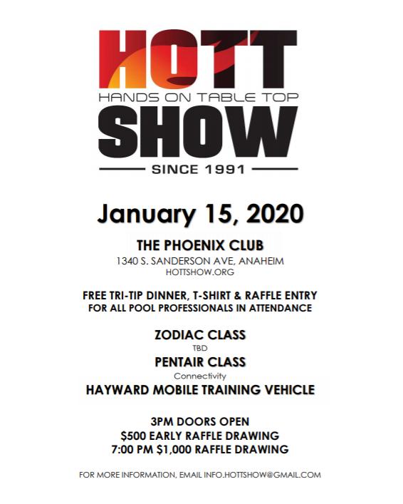 Hott Show 2020 classes flyer