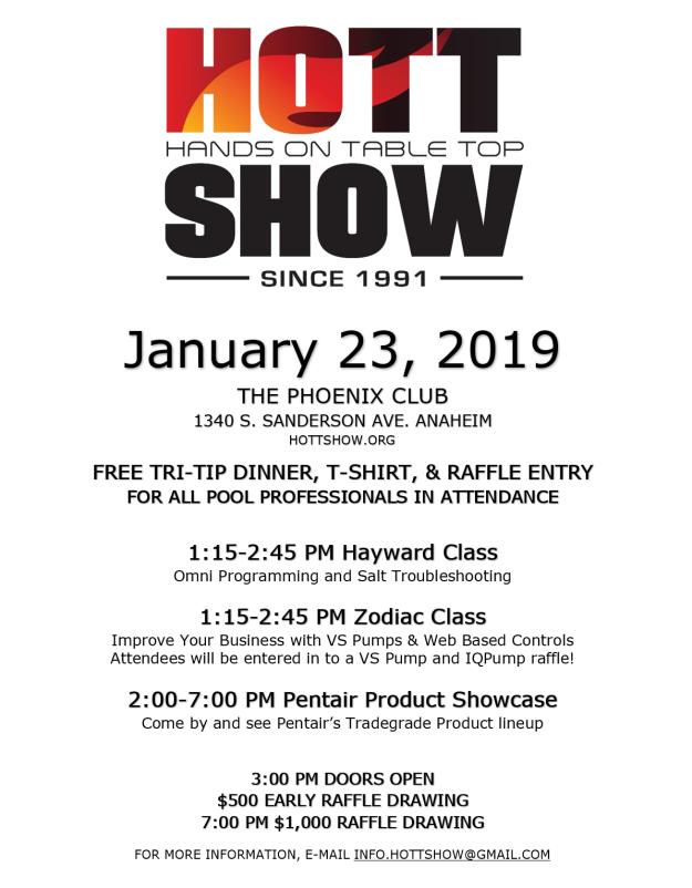 Hott Show poster 2019